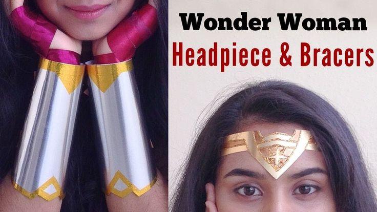 ✨ DIY Wonder Woman Costume Headpiece & Bracers | Easy Last-minute Hallow...