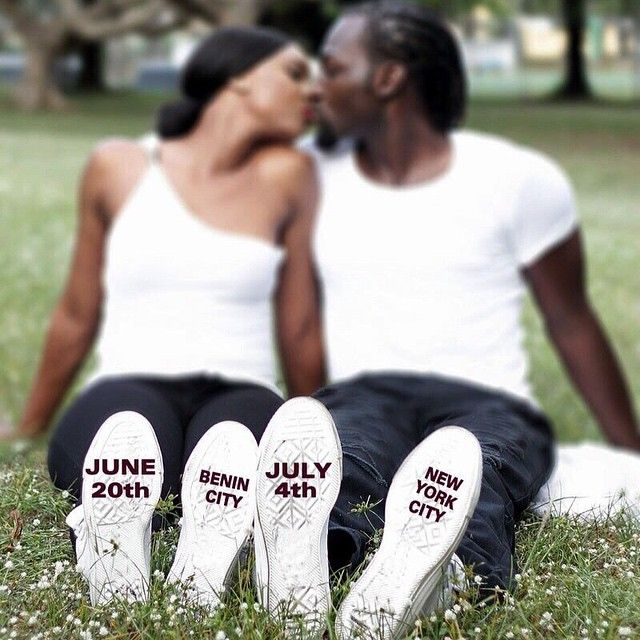 Nigerian wedding save the dates. shoes. Benin City. New York. Traditional and White wedding. how to advertise both. Photo by efelopezfotography on IG