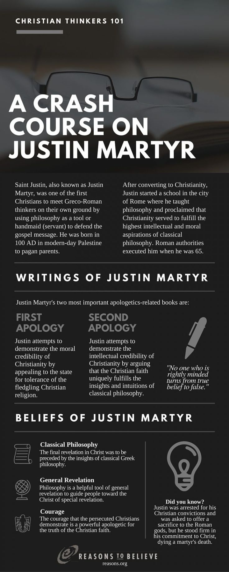 Saint of the Day – 1 June – St Justin also known as St Justin Martyr –  Martyr, first Christian Philosopher, Apologist, Orator, Teacher, Writer, Missionary (c100 – beheaded in 165 at Rome, Italy.  His relics in the Capuchin church, Romeat Nablus Palestine) – Patron of apologists, lecturers, orators, speakers, philosophers.  Attributes ax, pen, sword......