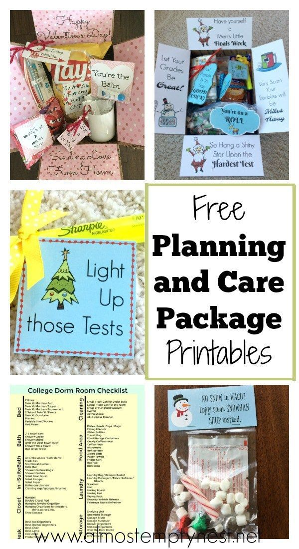 Free Planning and Care Package Printables - Almost Empty Nest