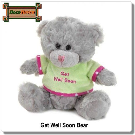 Stuffed Animals Get Well Soon Cards