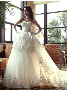 Garden/Outdoor Sleeveless Fall Lace-up All Sizes Strapless Church Classic & Timeless Wedding Dress