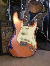 Heavy Relic Fender Squier Strat Electric Guitar Wilkinson Vintage Pickups Worn
