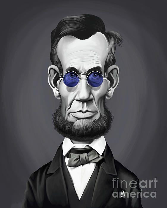 Abraham Lincoln art | decor | wall art | inspiration | caricatures | home decor | idea | humor | gifts