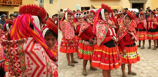 image140  Женщины в традиционном костюме дистрикта Ольянтайтамбо (Ollantaytambo)[11], провинция Урубамба (Urubamba), регион Куско, на празднике в городе Ольянтайтамбо, расположенном в западной части Священной долины инков (2007) - See more at: http://vicuna.ru/index.php/aymara/trajes/#sthash.Pv2RaQZO.dpuf