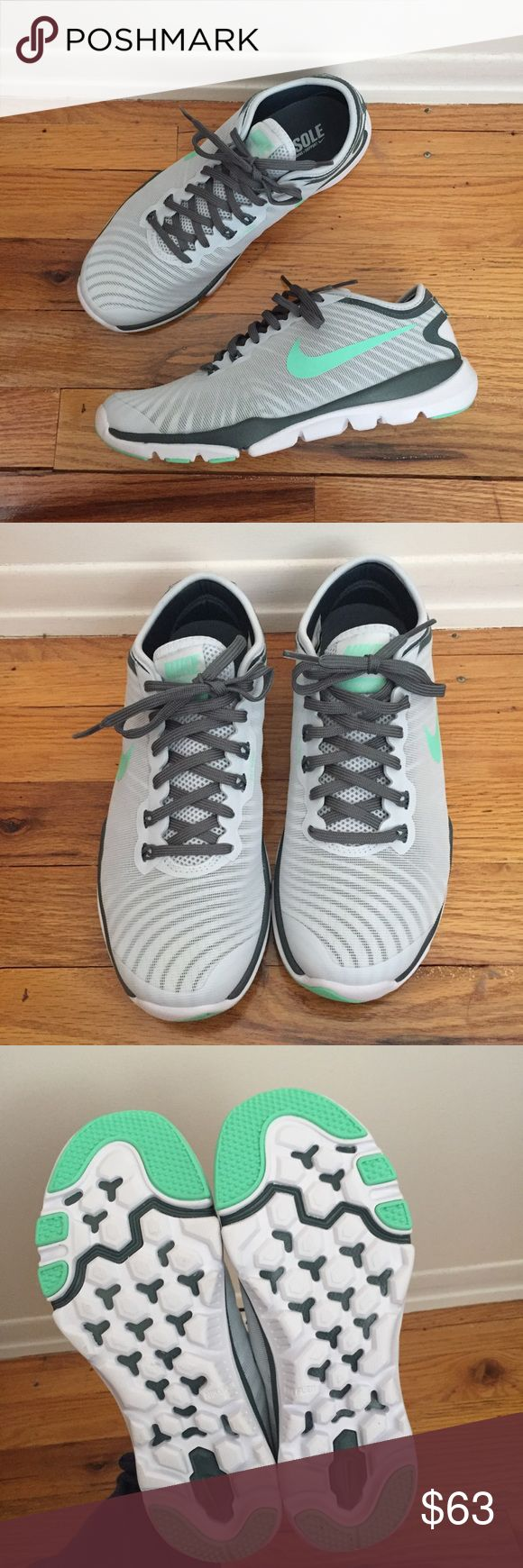 NIB Women's Nike Flex Supreme Trainer 4 size 6.5 Brand new! Women's NIKE Flex Supreme Trainer 4 sneakers. Size 6.5. Super lightweight, flexible, and comfortable. Perfect for every day wear or exercise. White, gray, and teal blue colors. Nike Shoes Sneakers