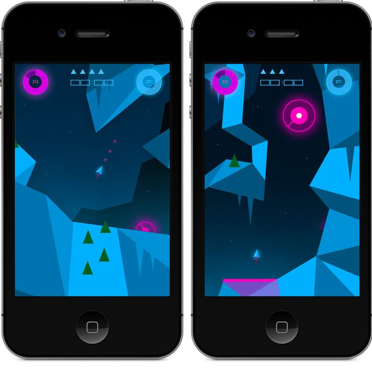 Heavy Rockets Screens. iOS indie game. Cave shooter game for iPhone, iPad and Mac.