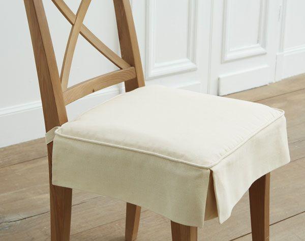 galette de chaise volants plats