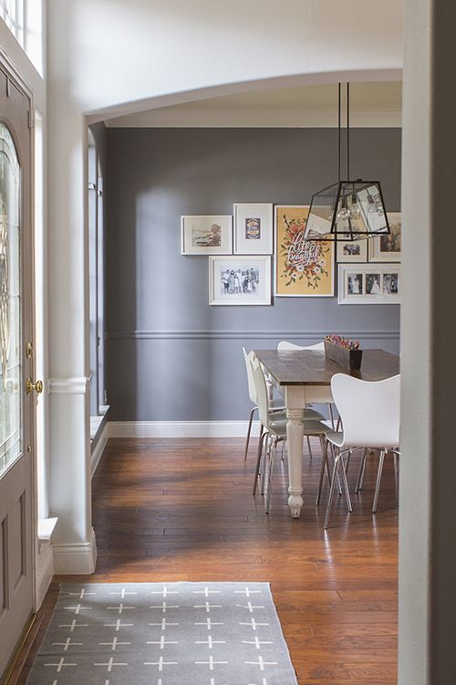 Gray Paint Color And Gallery Wall