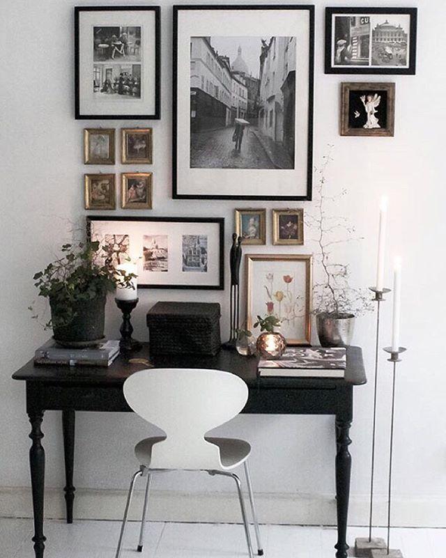 [Inramat] Tavelväggen vid matbordet. Fin onsdag./Picture wall. Nice Wednesday…