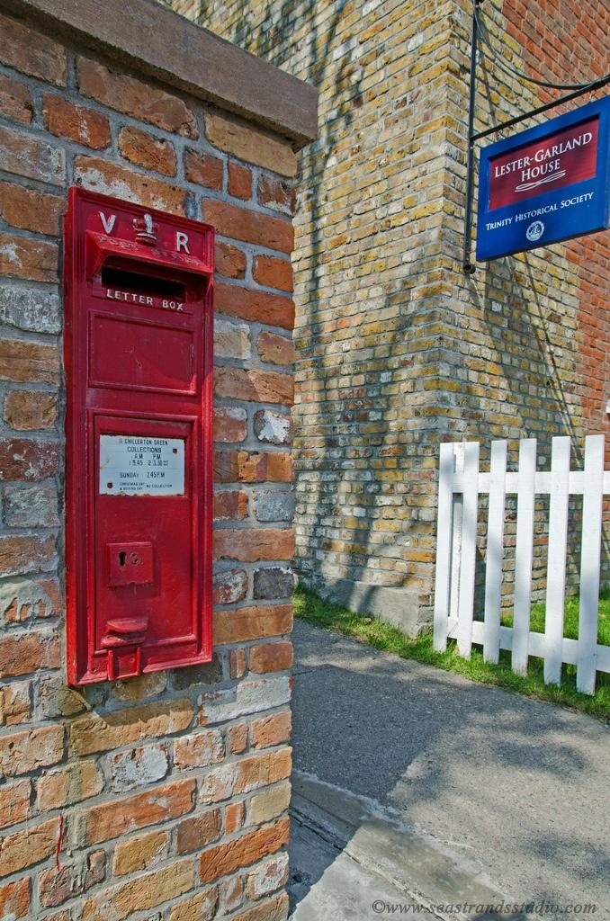Victorian post box, still in use. Trinity, Newfoundland. Photo, Seastrandstudio.