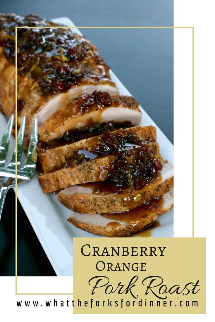 Cranberry Orange Pork Roast - Cranberries and orange marmalade combine for the perfect pork loin glaze. Crockpot easy