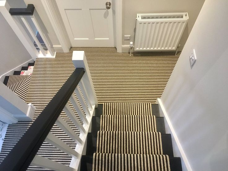A beautiful stripe carpet fitted by Deca-Carpets, distributed by Kingsmead Carpets.