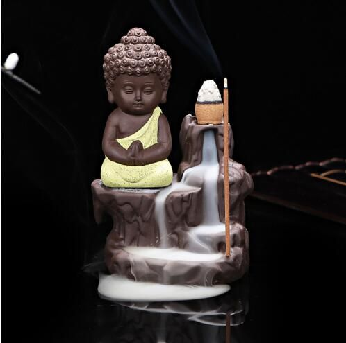 Creative Home Decor The Little Monk Censer Yixing Creative Backflow Incense Burner Home Furnishing Office Decoration