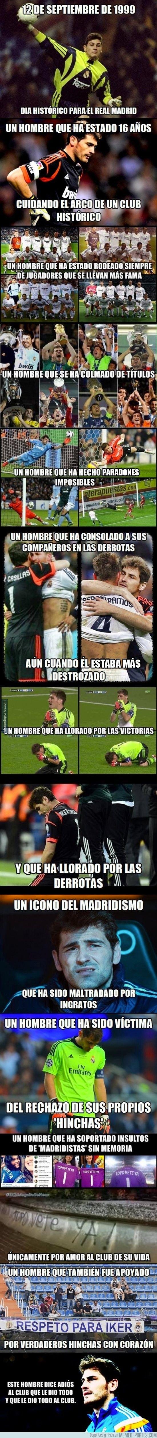Iker Casillas, un hombre de corazón blanco. Una persona que es mas que un portero para mi, mi favorito de todos los tiempos❤️