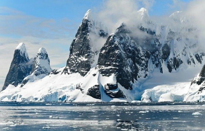 die vereiste berge der antarktis erleben