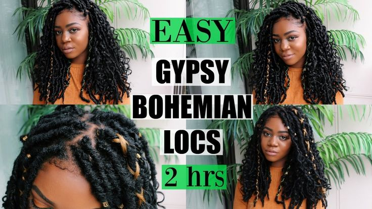 NEW Gypsy Bohemian Locs | Quick & Easy | ONLY 2 HOURS | Carefree Boho Style [Video]  Read the article here - http://blackhairinformation.com/video-gallery/new-gypsy-bohemian-locs-quick-easy-2-hours-carefree-boho-style-video/