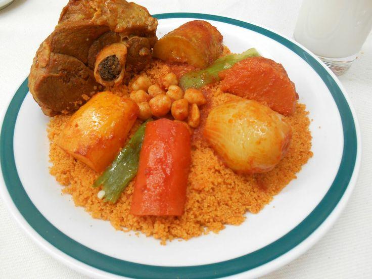 Couscous l 39 agneau tunisian couscous with lamb for Cuisine tunisienne