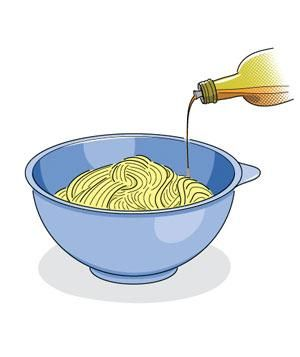 How to prevent cooked pasta from sticking