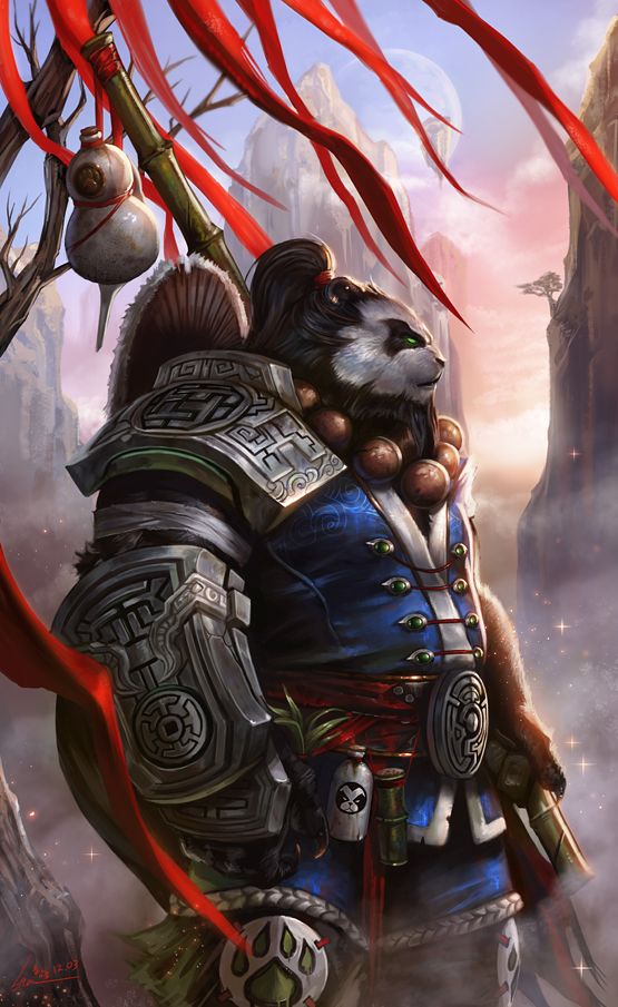 Pandaren by SiaKim armor clothes clothing fashion player character npc | Create your own roleplaying game material w/ RPG Bard: www.rpgbard.com | Writing inspiration for Dungeons and Dragons DND D&D Pathfinder PFRPG Warhammer 40k Star Wars Shadowrun Call of Cthulhu Lord of the Rings LoTR + d20 fantasy science fiction scifi horror design | Not Trusty Sword art: click artwork for source