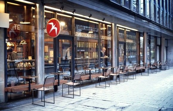 Best coffee shop in Oslo and its good looking too.