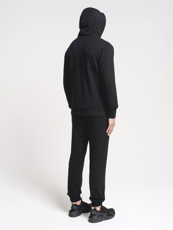 Our Pelleas jacket in Onyx made from our Pyratex fabrics #innovation #fashion #minimal #blackandwhite #hoodie #architecture #architectural #modern #design #sleek #clean