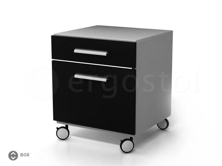 Удобная тумбочка Box1 на колесиках для офиса и дома
