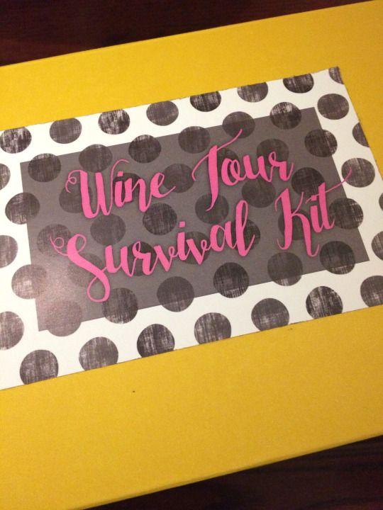 Wine Tour Survival Kit & Drinking Game!