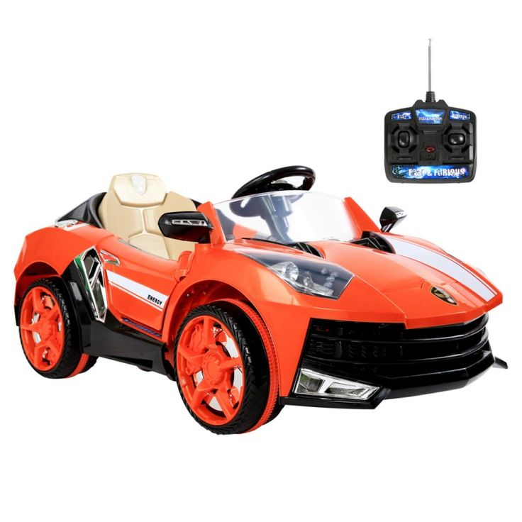 Lamborghini Kids Ride On Car w/ Remote Control - Orange