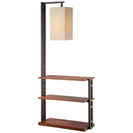 24 best images about floor lamp with shelves on pinterest for Floor lamp with shelves