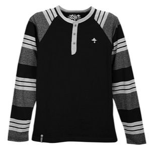 Check! . LRG Core Collection Long Sleeve Henley - Black