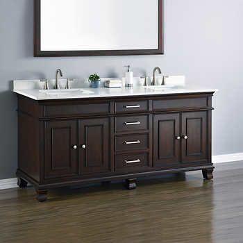double sink vanity. camden 72\u201d double sink vanity by mission hills $1299 thru 1/22/17