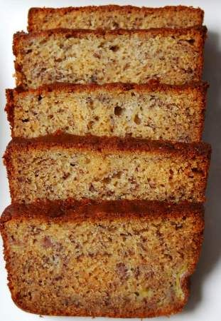 Perfect (& easy) Banana Bread   Martha Stewart. I have used the recipe for years!! I usually add some cinnamon and nutmeg as well. Don't know the measurements because I just eye it.