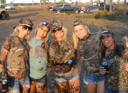 this will be me and my friends this summer: gonna get Gabriella. Sierra. Ansley. And zaria all in some camo, cowgirl boots and some mud.