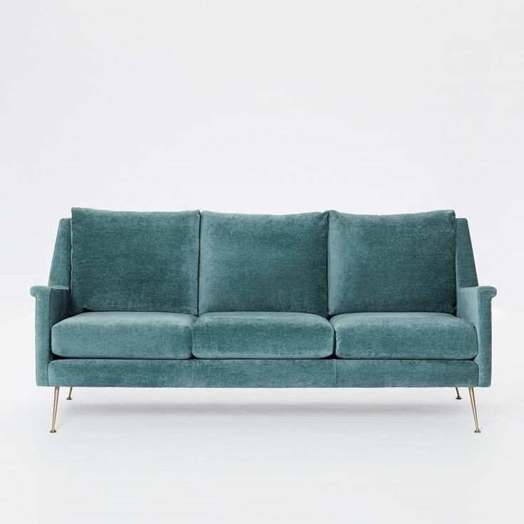 Carlo Mid-Century Sofa - Dusty Teal (197 cm)