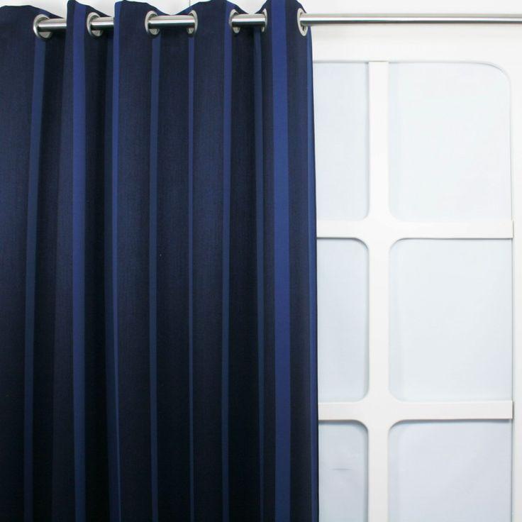 Gordijnen - Verduister Streep Blauw || Hippe gordijnen (voordeelgordijnen.nl)