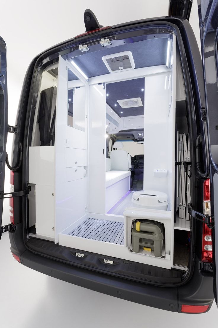 Sprinter Concept Van; rear bathroom.