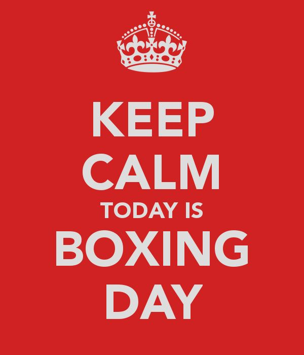 One this day 26th December, 1874 Boxing day was officially recognized as a Bank holiday. The name originates from the custom of Christma sboxes being given to Lord's serfs and dates back to the middle ages