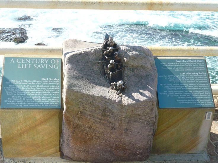 Bondi Beach. Memorial to Surf Life Savers.