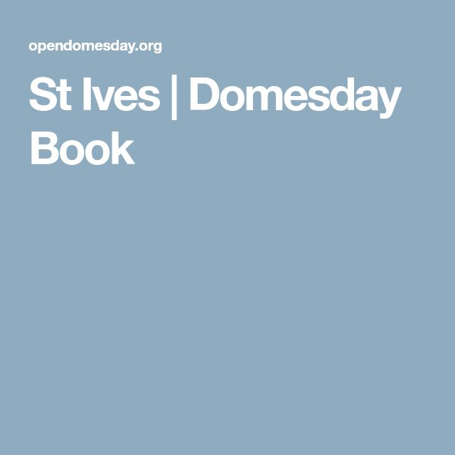 St Ives | Domesday Book