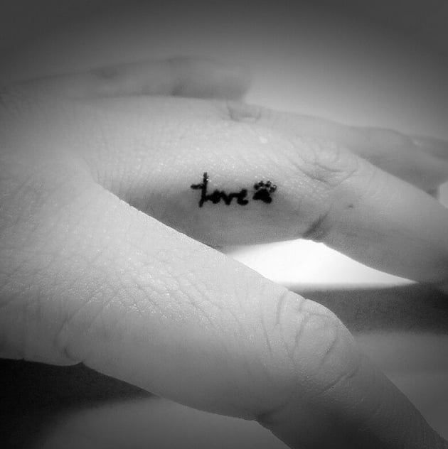 Pin for Later: 30 Tiny Finger Tattoos You'll Want to Flaunt ASAP Animal-Lover
