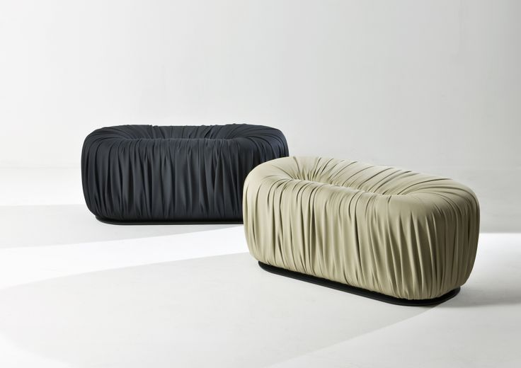 Rectangular Pouf - Drapé collection by Bartoli Design | Laurameroni