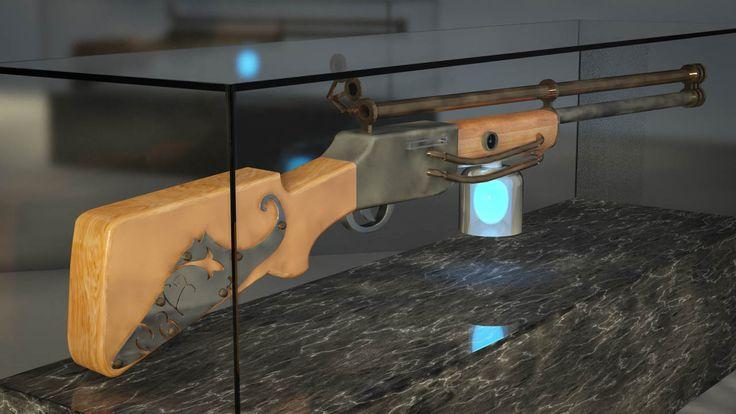 #3D #Steampunk #Gun
