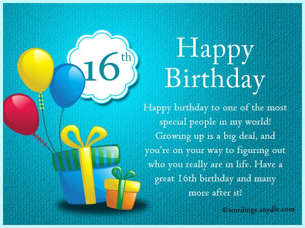 16th Birthday Wishes Messages And Greetings Birthday Wishes For