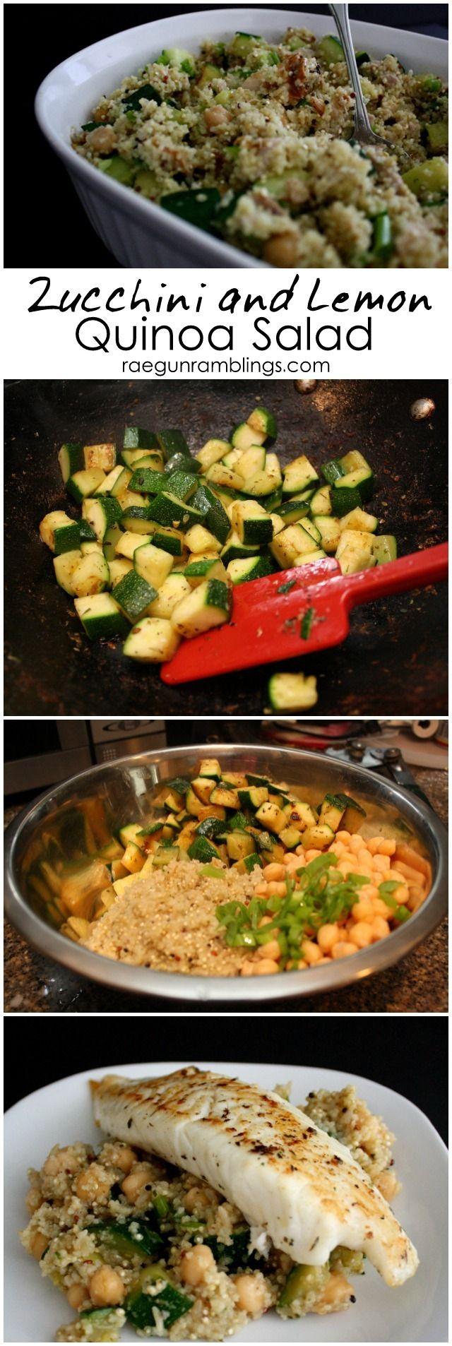 Delicious and fast zucchini quinoa salad recipe great healthy dinner idea- Rae Gun Ramblings