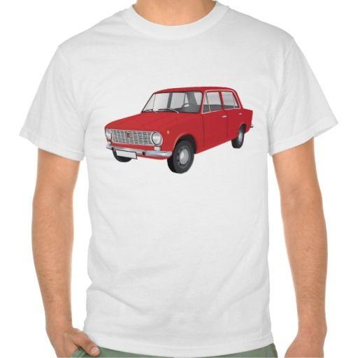 FIAT 124 Berlina red  #fiat #fiat124 #60s #automobile #automobiles #tshirt #tshirts #car