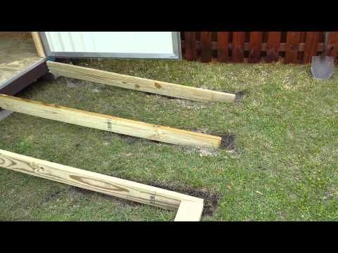 Ramp for shed - YouTube