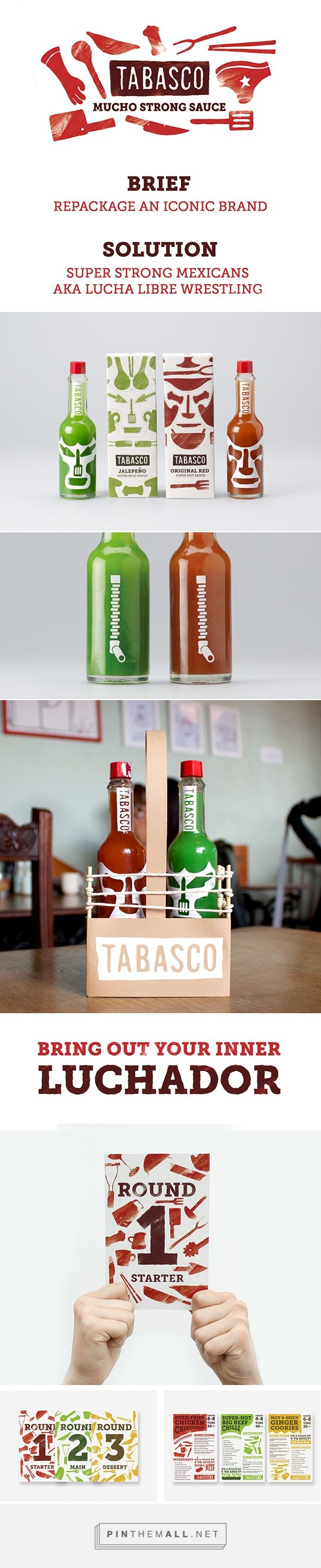 Tabasco Pepper Sauce rebranding by Tony Roberts on Behance curated by Packaging Diva PD. Well, what do you think about the packaging?
