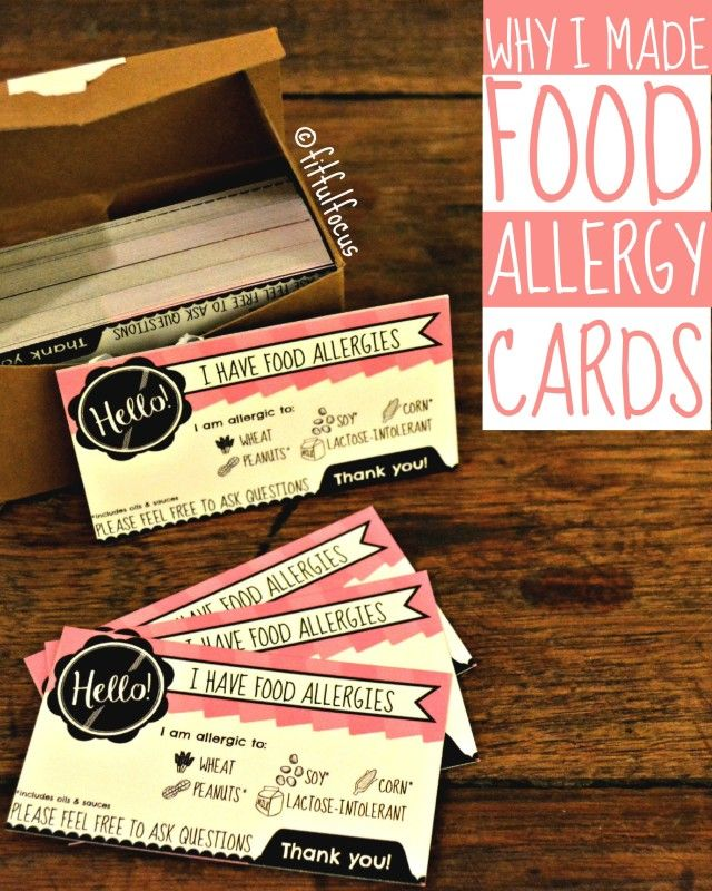 Food Allergy Cards | Living with Food Allergies | Food Allergy Tips & Tricks
