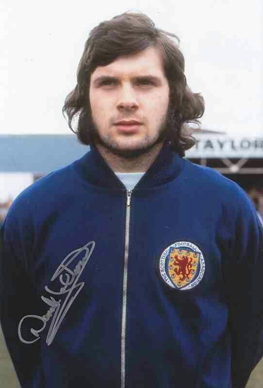 Derek Johnstone of Scotland in 1975.